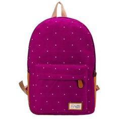 Yucheer Mujeres lindas mochilas de viaje - Rosa roja