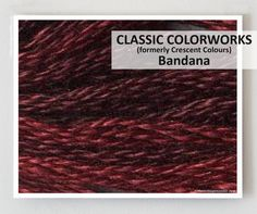 BANDANA  : Classic Colorworks hand-dyed embroidery floss cross stitch thread at thecottageneedle.com         by thecottageneedle