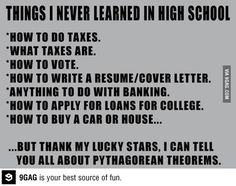 It's sad how accurate this is.. I will have to remember to teach theses to my teenager someday.
