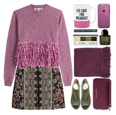 """Purple rain"" by norairh ❤ liked on Polyvore featuring Valentino, McQ by Alexander McQueen, Speck, Topshop, Steve Madden, MICHAEL Michael Kors, Clinique, Byredo and Kate Spade"