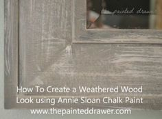 How to Create the Weathered Wood Look on a Plastic Mirror Frame