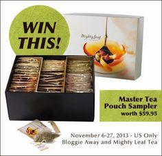 Mighty Leaf Tea Giveaway