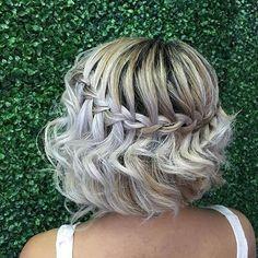 Waterfall Braid for Short Hair (Bob) #hair
