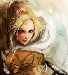 Mikasa, Ymir, Tokyo Ghoul, Female Titan, Attack On Titan 2, Annie Leonhart, Aot Characters, Film D'animation, A Beast