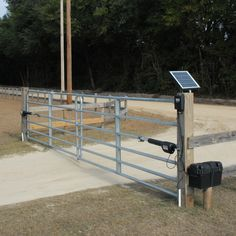 Our line of Mighty Mule driveway gate openers & smart garage door openers offer the perfect way to add security & convenience to your home or business. Solar Electric Fence, Electric Gate Opener, Farm Gate, Farm Fence, Fence Gate, Cattle Gate, Diy Gate, Cabana, Driveway Entrance