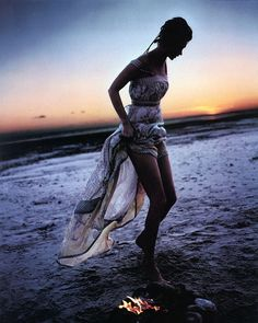 Fun fire on a beach...romantic