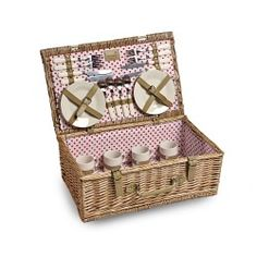 4 Person 'Polka Dot' Fitted Picnic Hamper