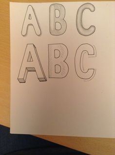 How to Draw a 3D 'Bubble Writing' Title