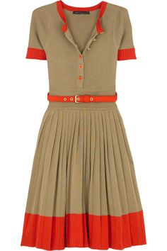 Loving this colour combination. Very Autumnal! | Marc Jacobs Meredith dress