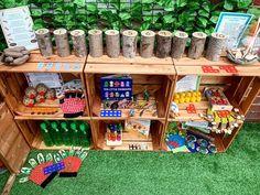Maths Eyfs, Eyfs Classroom, Nursery Activities, Rhyming Activities, Outdoor Classroom, Maths Display, Number Display Eyfs, Eyfs Outdoor Area, Outdoor Play