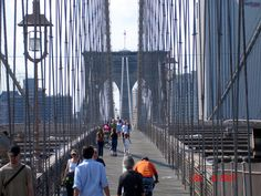 Brooklyn Bridge, NY - One of the oldest suspension bridge in America.