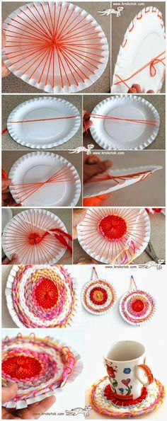 Every year it looks like some kind of art and craft is little bit more common in our class. This year looks like weaving year ideas creative Yarn Crafts, Home Crafts, Diy And Crafts, Crafts For Kids, Arts And Crafts, Paper Crafts, Children Crafts, Weaving Projects, Craft Projects