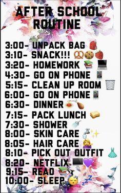 Timetable after school - Ellise M.- nach der Schule – Ellise M. Timetable after school –