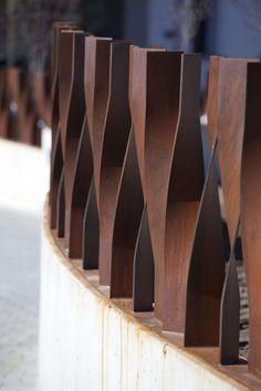 Corten Steel Fence at Hospital de Avila by EACSN | Gardenista