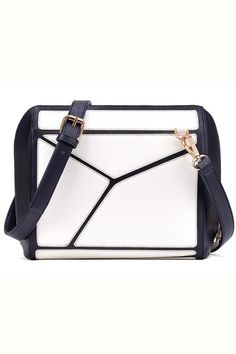 Refined Geo Contrast Shoulder Bag