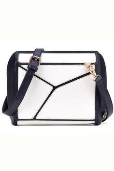 Refined Geo Contrast Shoulder Bag