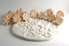 Clay Stamp Flower Power Just ONE Tool for Fondant Cookies Ceramics Pottery Polyclay Metal Clay. $7.00, via Etsy.  3/13