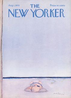 André François : Cover art for The New Yorker 2372 - 1 August 1970