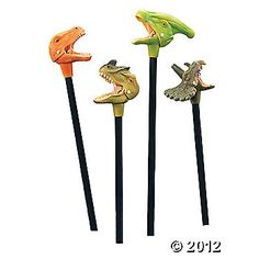 Dinosaur party favors for Cjs 4th birthday