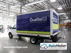 Rainmaker Signs - Bellevue, WA, United States. Premium printed vinyl box truck wrap. Qualitel, Everett, WA.