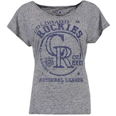 b6f318a8c06 Colorado Rockies Majestic Women s Baseball T-Shirt - Black