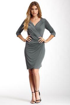 Ruched Wrap Dress by 24/7 Comfort on @HauteLook Vivienne Westwood, One Shoulder, Shoulder Dress