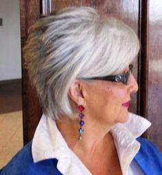 Grey Short Hair for Women Over 60