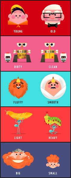 Pixarpposites #12-16 by Andrew Kolb