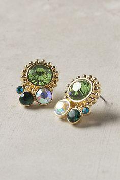 Crystal cluster earrings. $28.00