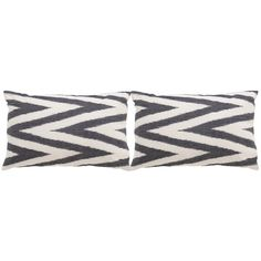 Safavieh Chevron 20-Inch Charcoal Decorative Throw Pillow (Set of 2)