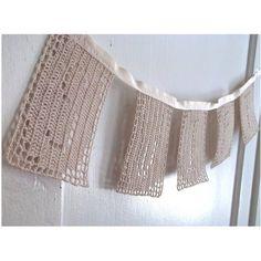 Reduced Price  Swift Crochet Cotton Garland by reraeshop on Etsy, $40.00