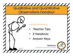 Qualitative & Quantitative Observation Handouts by Headway