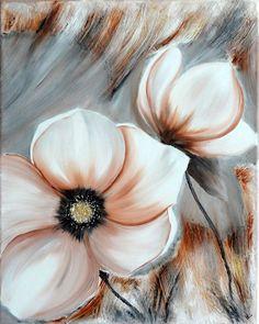 """Peinture fleurs """"couleurs d'automne"""""""