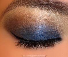 Navy blue eye shadow