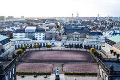 Overlooking the city of Copenhagen, from Christianborg Palace tower. #copenhagen #denmark