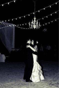 First Dance | The Wheeler House | Night Wedding | Chandelier | String Lights