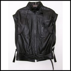 NICOLAS ANDREAS TARALIS, LEATHER BLOUSON: japanese auction pages at night... uh oh.
