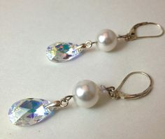 Bridal+Swarovski+Dangle+Earrings+Made+With+by+LittleBoxOfCrystals