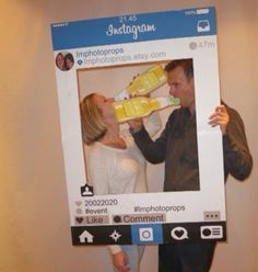 Customised Large Instagram Photo Prop Frame by LMPhotoProps