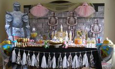 Princess and Knight Party in a Box. Tutus, tiaras, wands, inflatable swords & shields, dragon crafts and so much more. Shop now at My Princess Party to Go. #princessknight