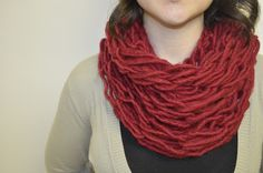 Arm Knit Scarf ~ Stuff and Spice Arm Knitting, Knit Fashion, Spice, Arms, Crafty, Sewing, Crochet Ideas, Spices, Dressmaking