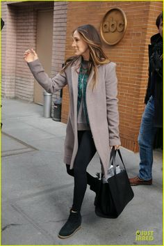 Sarah Jessica Parker arriving for her appearance on The Katie Couric Show in New York