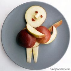 Music & Food Affect Your Mood « Funny Food Art Cute Food Art, Food Art For Kids, Love Food, Deco Fruit, Creative Snacks, Food Carving, Food Humor, Funny Food, This Is Your Life