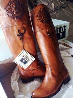 Frye Melissa Logo Tan Boots