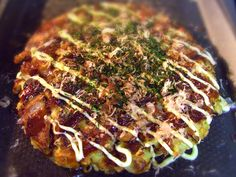 Okonomiyaki !! some kind of soulfood for people lived in west part of Japan.