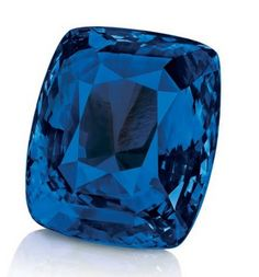 The Blue Belle of Asia! Weighing 392.52 carats, the Blue Belle of Asia is the fourth largest faceted sapphire in the world.
