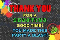 Printable Paintball Thank You Card