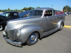 1939 Ford Coupe Utility - Nice Australian ute body, but built in LHD for this owner. Seen at car & boat show, LaConner, Washington (by Hugo90, via Flickr)