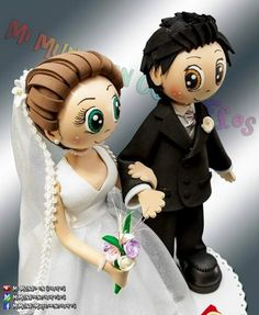Novios fofuchos Quilling Cake, Paper Quilling, Foam Crafts, Diy And Crafts, Ideas Para Fiestas, Craft Work, Wedding Cake Toppers, Craft Tutorials, Holidays And Events