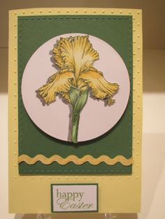 "Iris stamp from Gina K's ""Stately Flowers 8"""